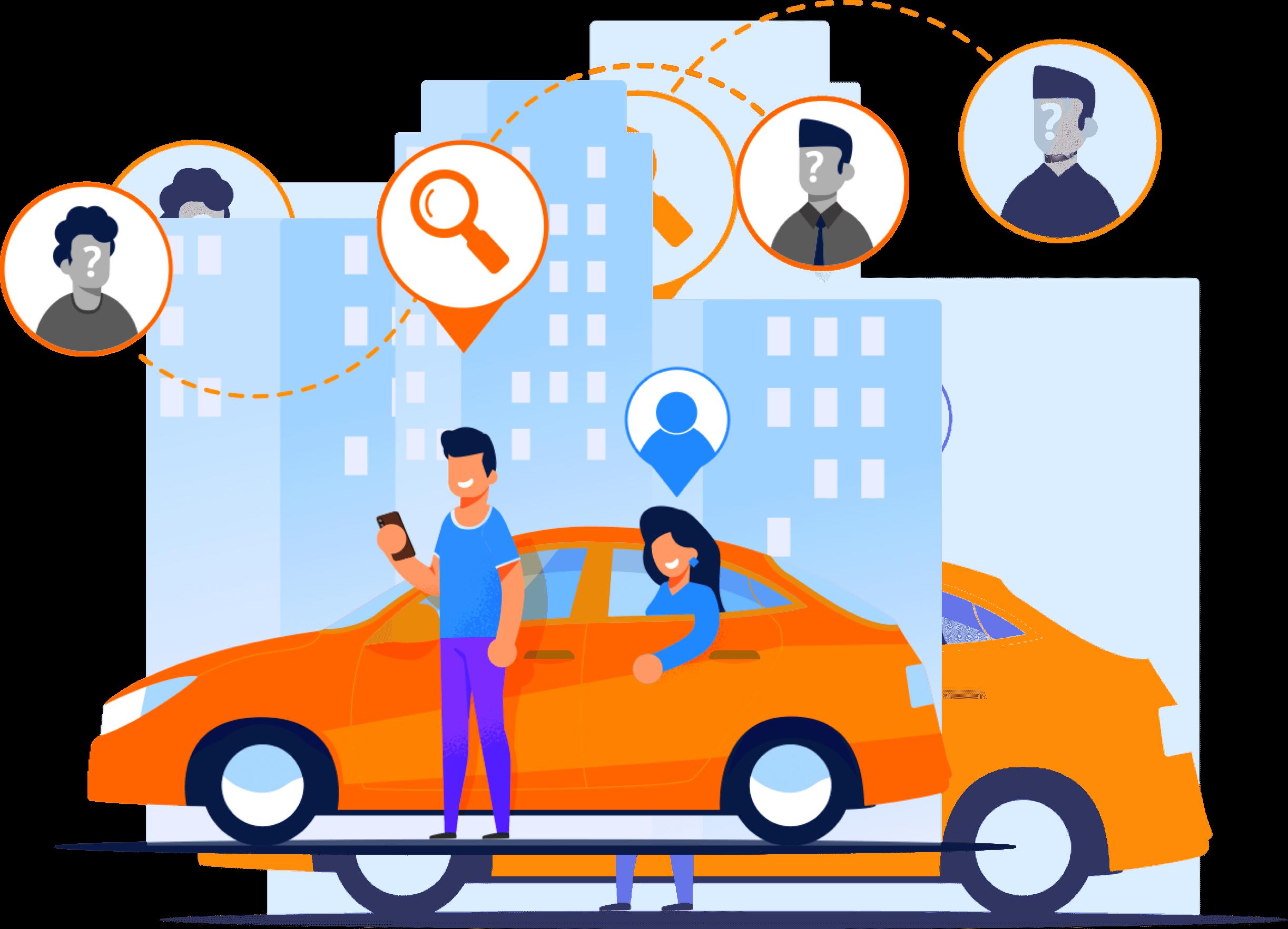 Comoving technology illustration