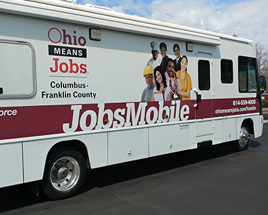 JobsMobile on the Move RV taking the Ohio Means Jobs assistance to job seekers