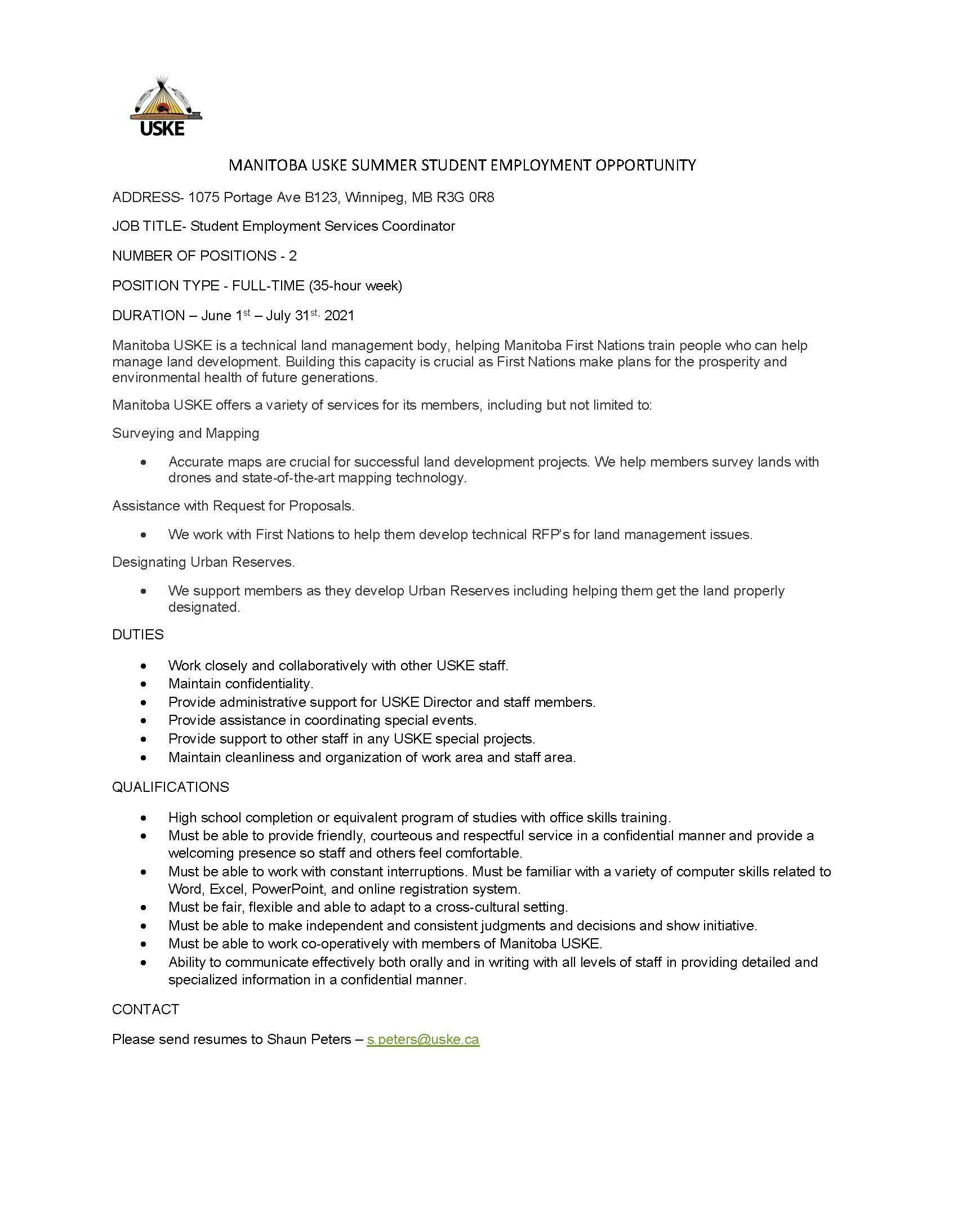 Job description - download using link below