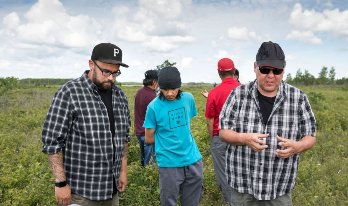 Manitoba Uske members at drone training in a field
