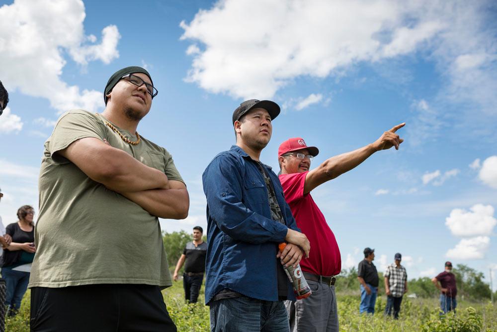 Three Manitoba Uske members at drone training
