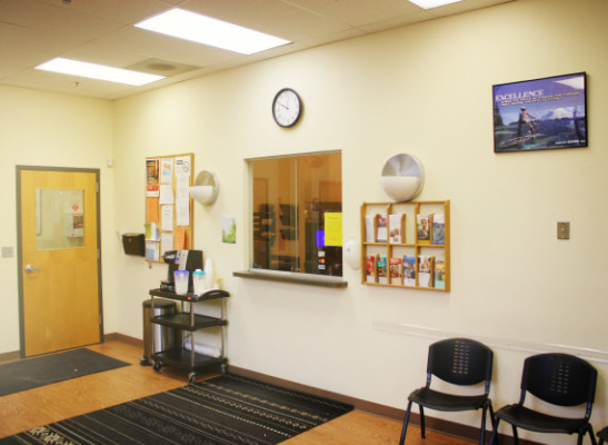 Image of the lobby of CARS outpatient facility