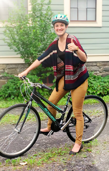 Person riding her bike at CARS