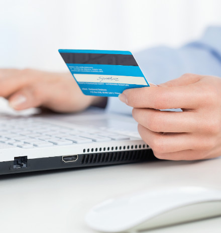 taking payment with a credit card