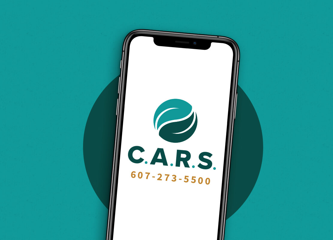 CARS Logo and phone number on phone screen