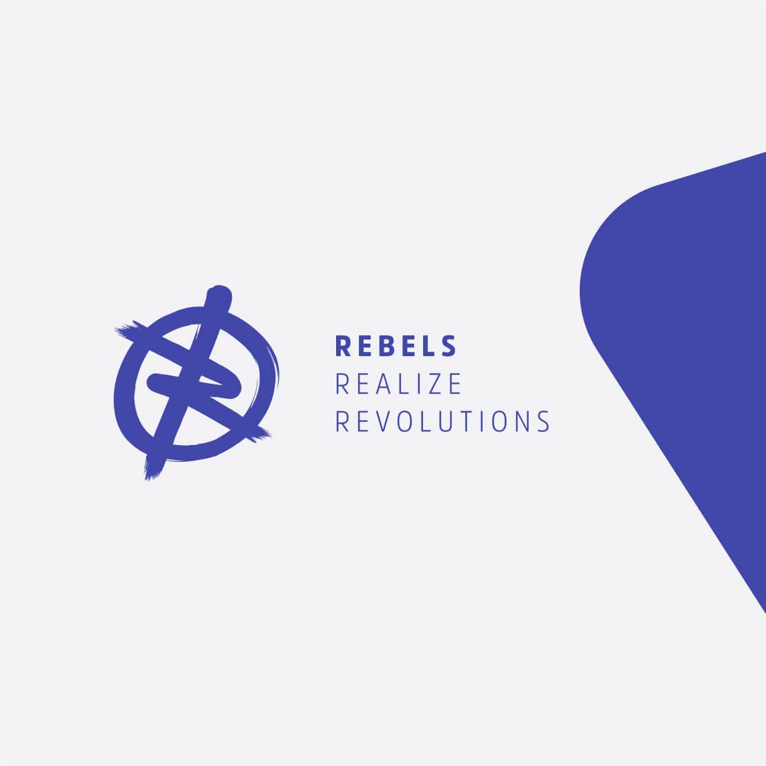 Rebels logo in Sqales stijl