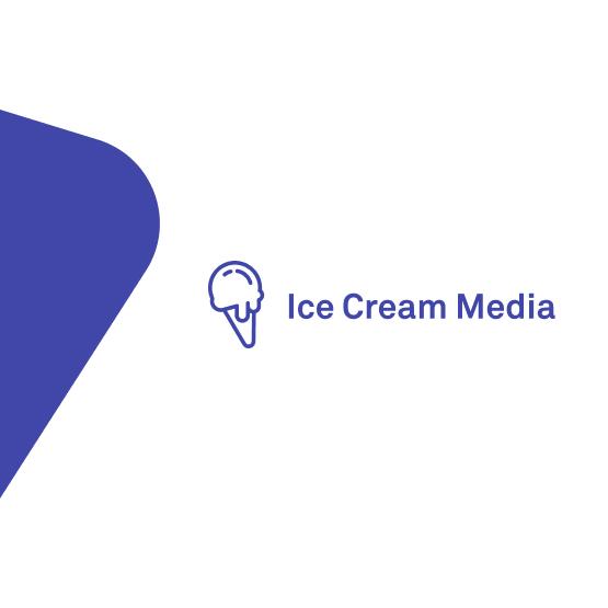 Ice Cream Media logo in Sqales stijl