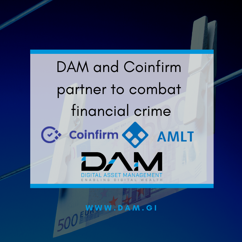 DAM and Coinfirm Partner to Combat Financial Crime on the Blockchain
