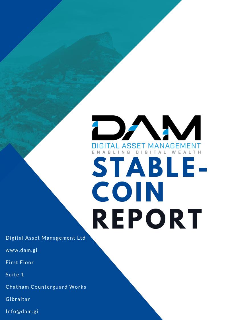 DAM Token Report – Stable Coins 2018