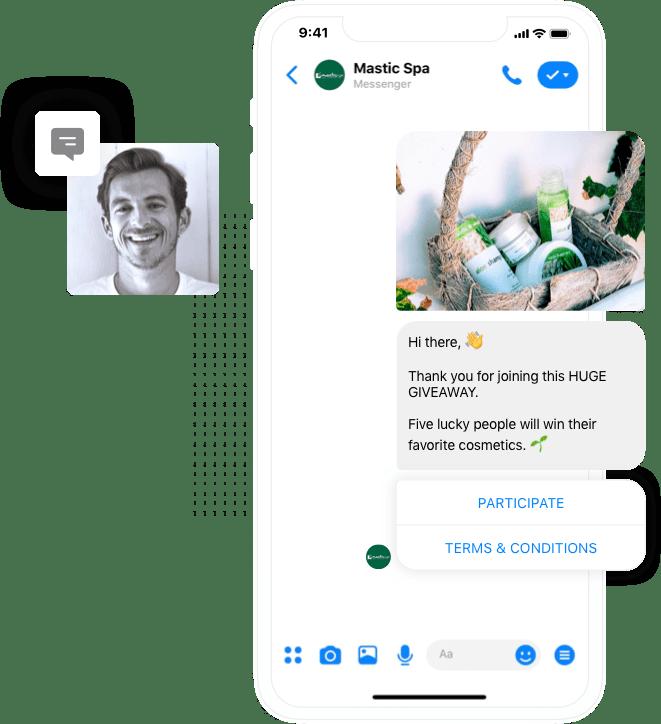 Run giveaways from inside Facebook Messenger