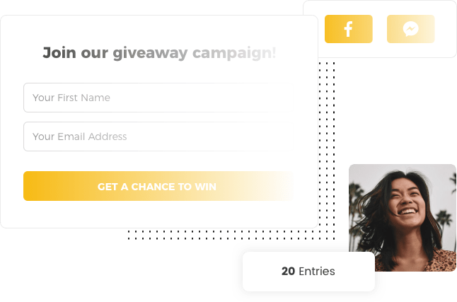 The tempting giveaway template by Viral Loops