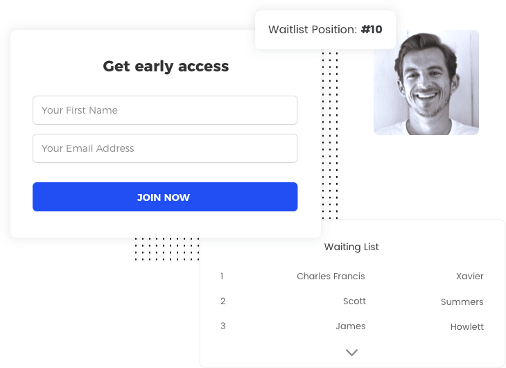 The Startup Prelaunch template by Viral Loops