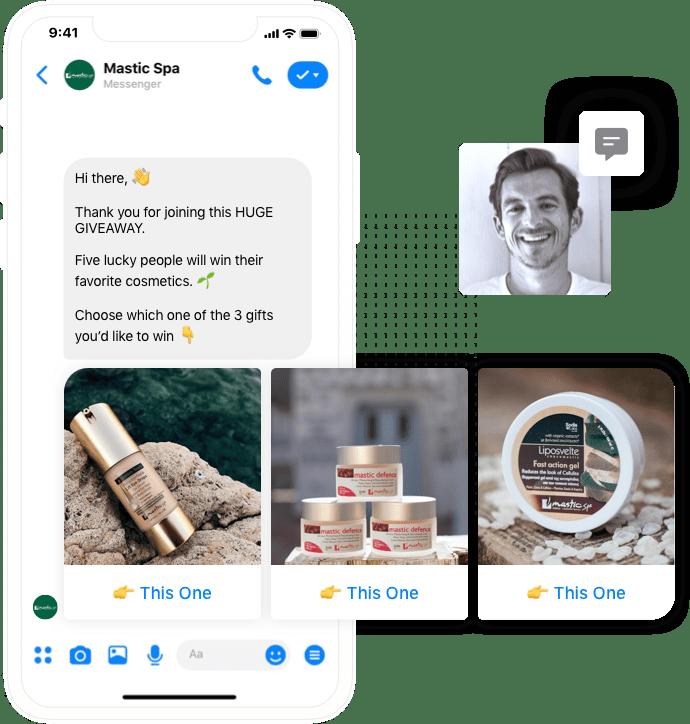 Offer multiple rewards in exchange for referrals from inside Facebook Messenger