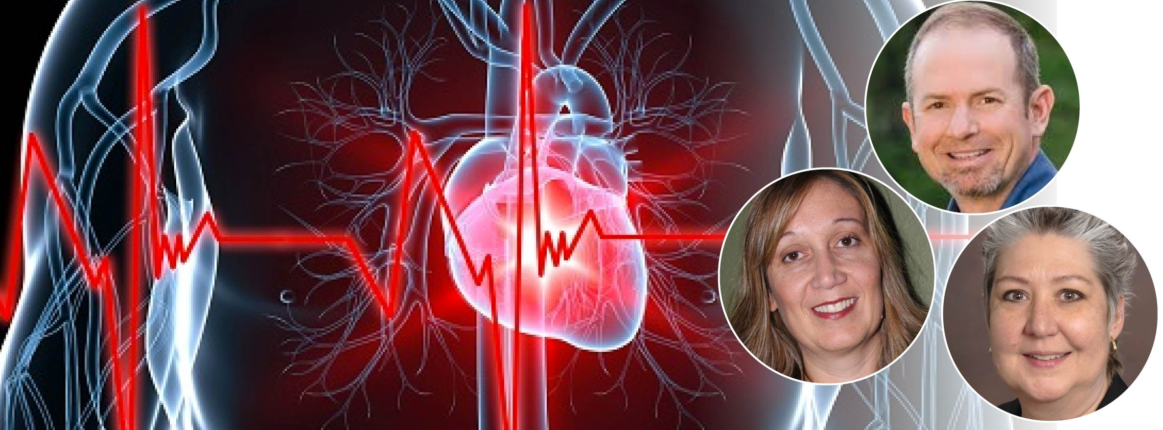 A graphic featuring a heart and Dr. McKinset, Dr. Sucharov, & Ms. Brodsky