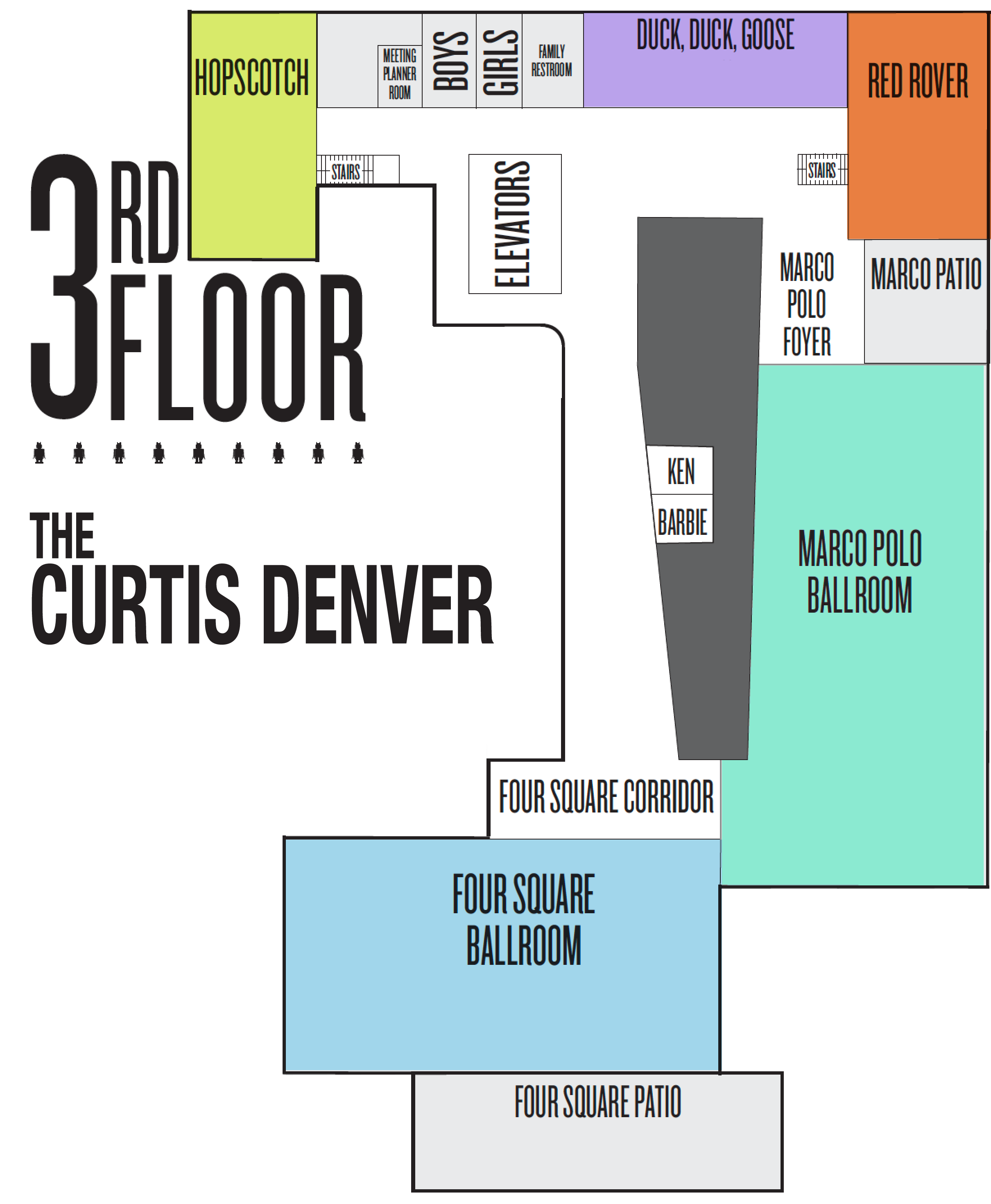 A map of the curtis in denver