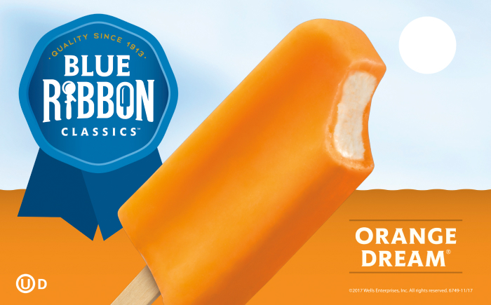 blue ribbon orange dream popsicle