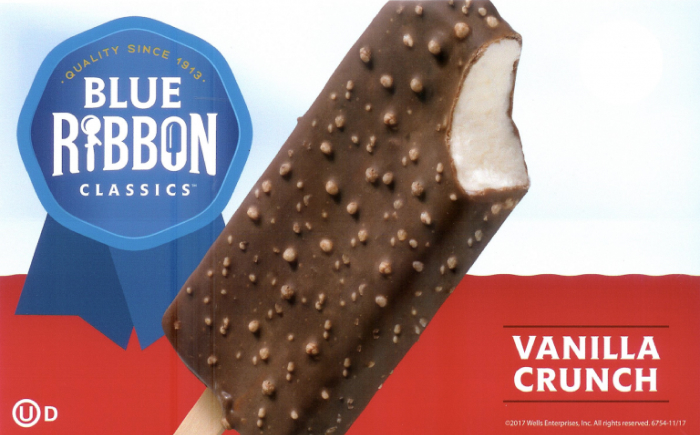 blue ribbon vanilla crunch bars