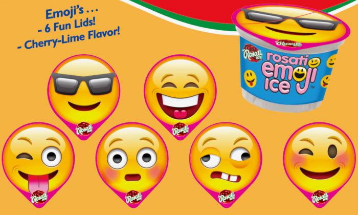 rosati emoji ice cream cup
