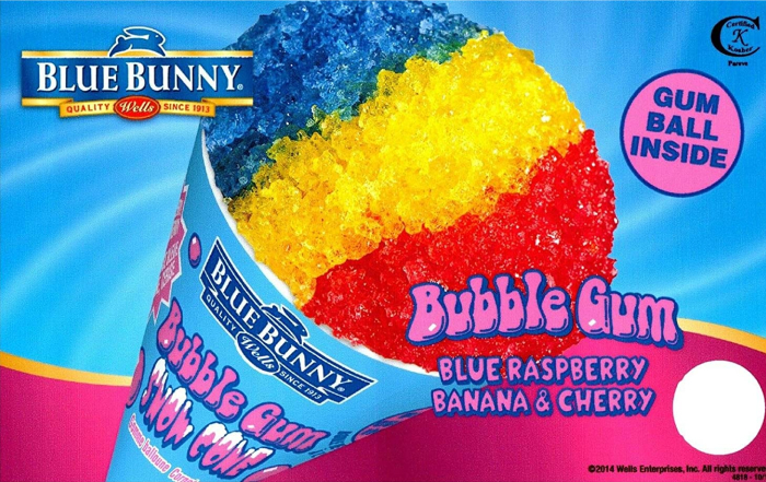 blue bunny bubble gum ice cream pop
