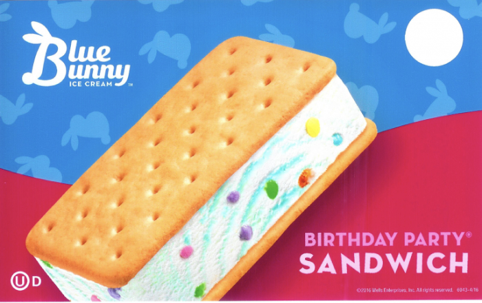 blue bunny birthday party sandwich