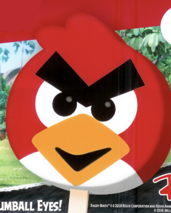 red angry birds popsicle