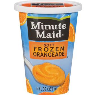 minute maid frozen orangeaid cup