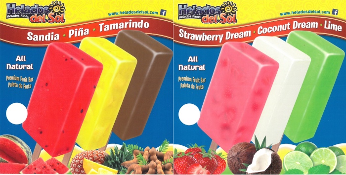 helados del sol popsicles