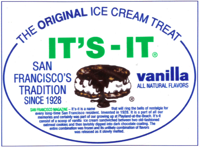 it's it vanilla ice cream sandwich