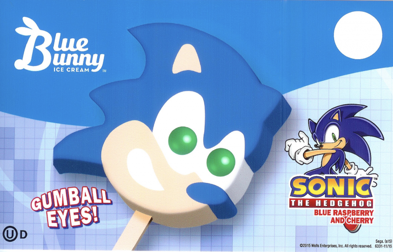 Blue bunny sonic popsicle