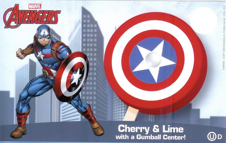 avengers captain america popsicle