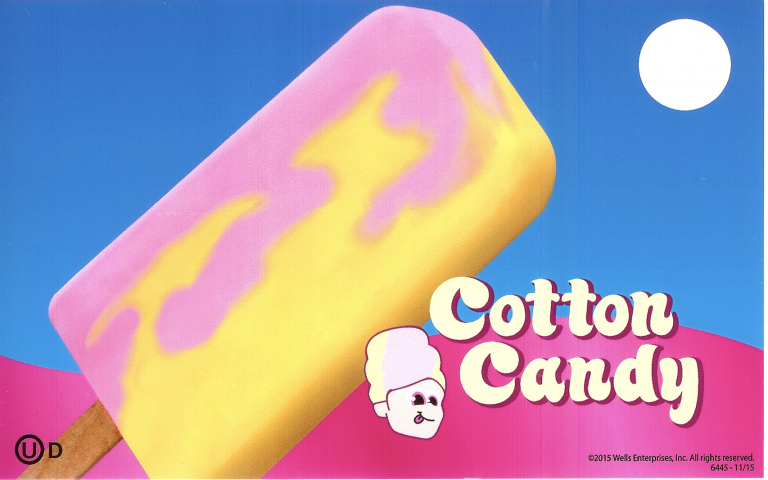 Cotton Candy popsicle