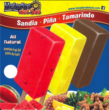 helados del sol popsicles for an ice cream truck