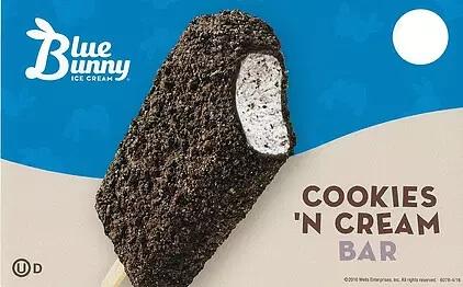 cookies n cream bar blue bunny