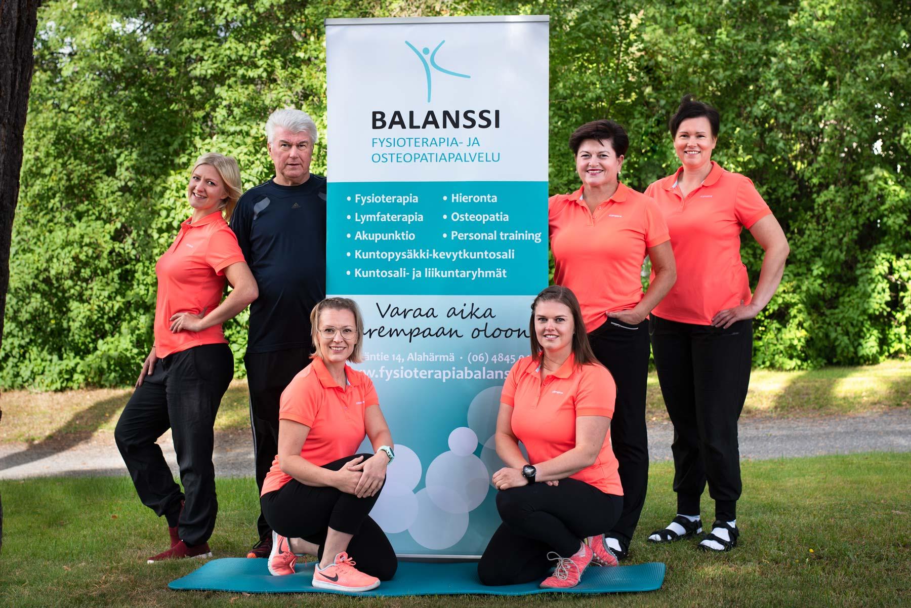 Fysioterapia- ja osteopatiapalvelu Balanssi I henkilöstökuva