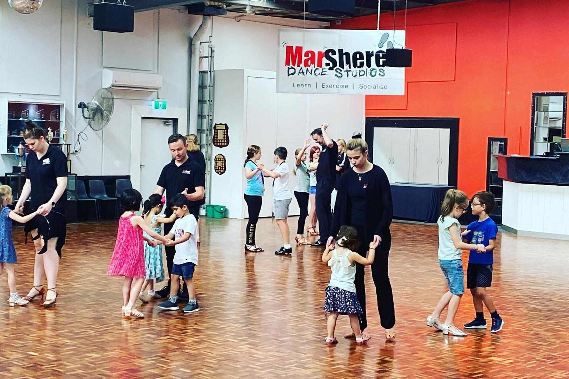 Kids ballroom dancing classes at MarShere Dance Studios