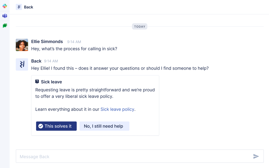 onboarding messages in Slack, Microsoft Teams & Google Chat