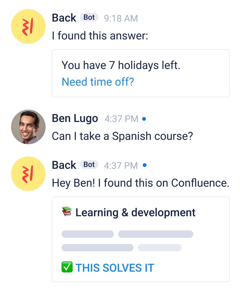 Back in Google Chat