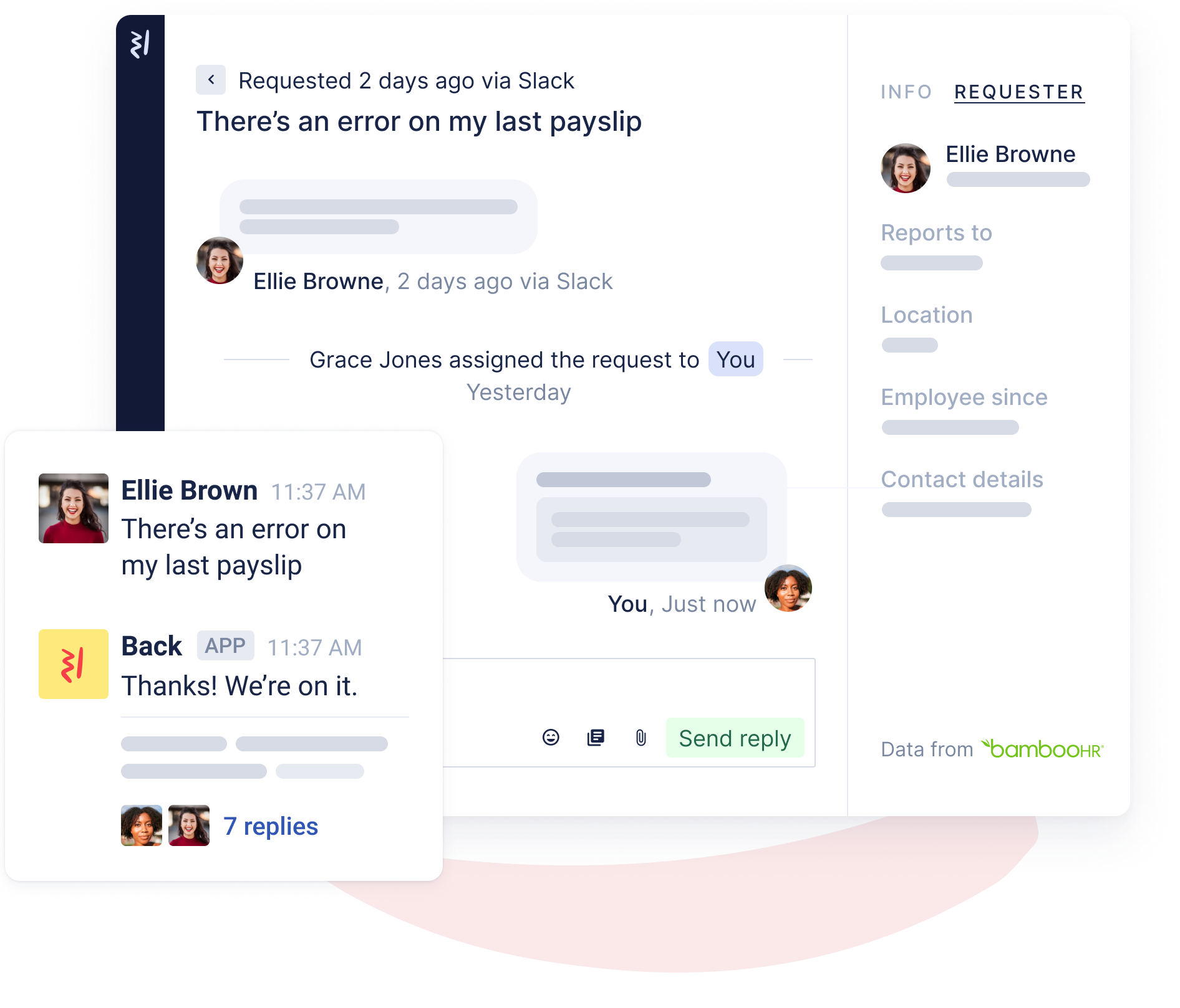 Manage HR conversations in Back