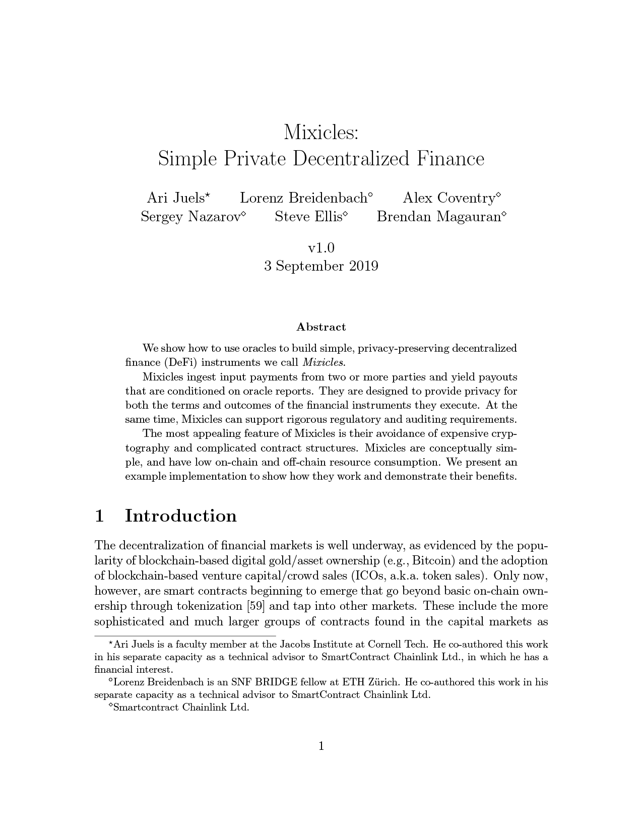 Mixicles Whitepaper cover