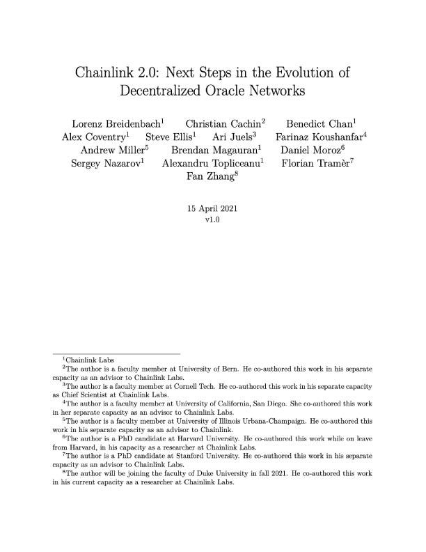 Chainlink 2.0 Whitepaper