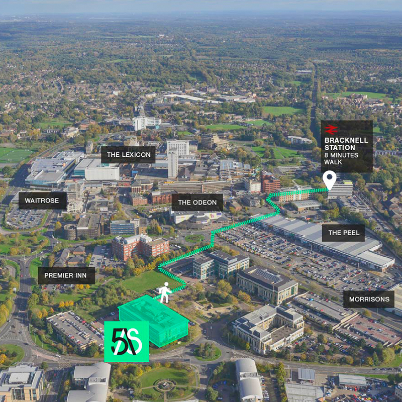 5 Arlington Square Office Space Location Map Bracknell