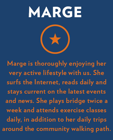 Marge, ViewPointe Independent Living, Colorado Spring