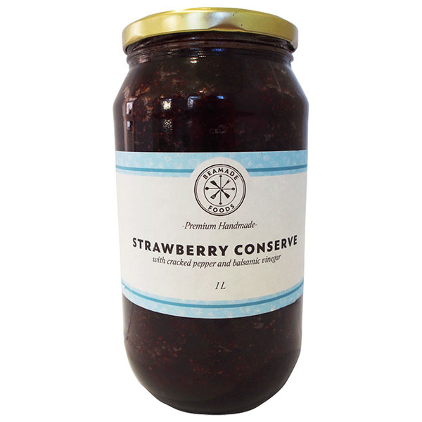 Strawberry Conserve with Balsamic Pepper and Cracked Pepper - (6 x 300mL)