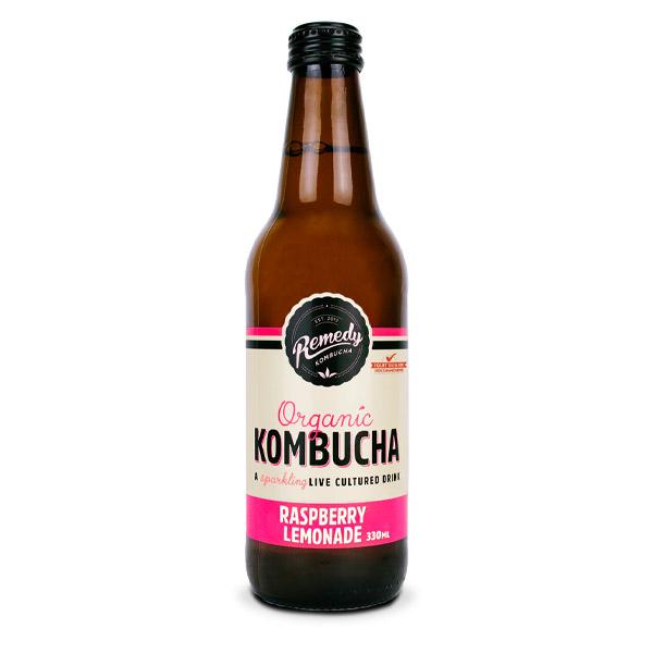 Remedy Kombucha Raspberry Lemonade (330ml) x 12