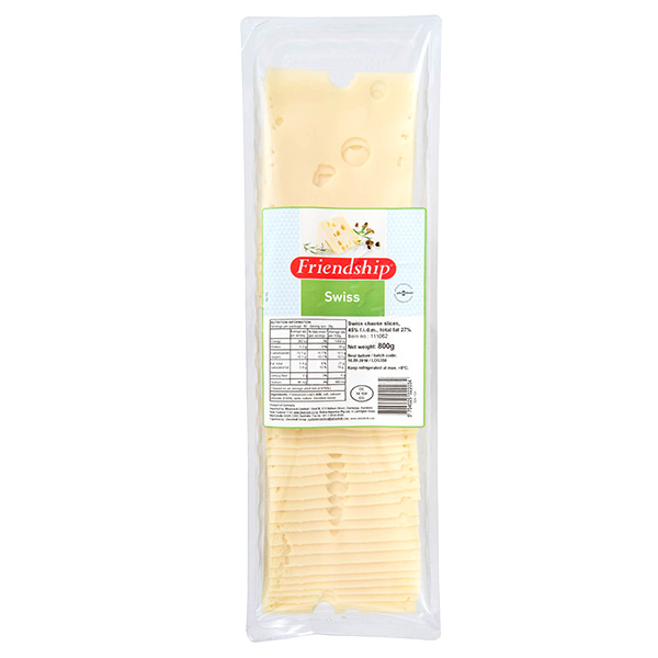 Cheese Swiss Slice 1Kg (Friendship) Each