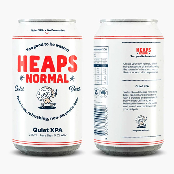 Heaps Normal Quiet XPA Cans - 24 x 355ml (Alcohol Free)