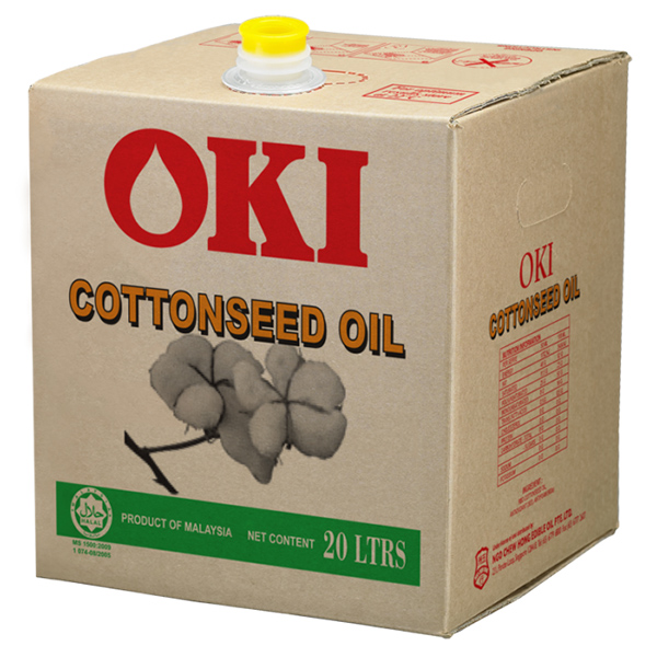 Oki   Cottonseed Oil (20lt Square Tin) - RBD Cottonseed Oil for all deep frying applications