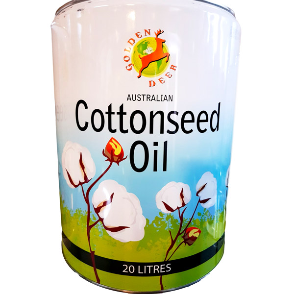 Golden Deer Cottonseed Oil (20lt Round Drum ) - Premium Australian Cottonseed Oil