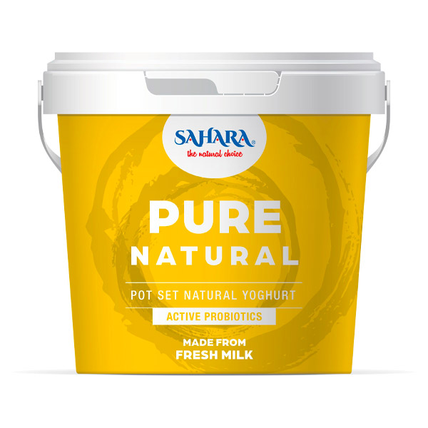 Sahara Pure Natural Yoghurt 6x1kg Carton