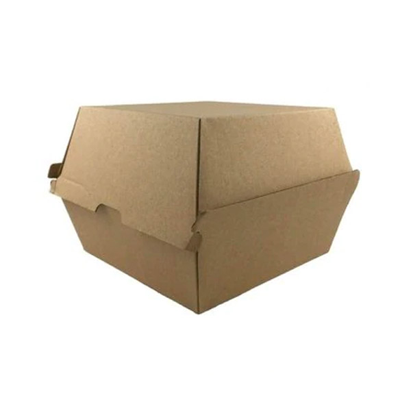 Snack Box / Burger Box Brown 102 X 105 X 80Mm (250/Ctn) / Green Mark